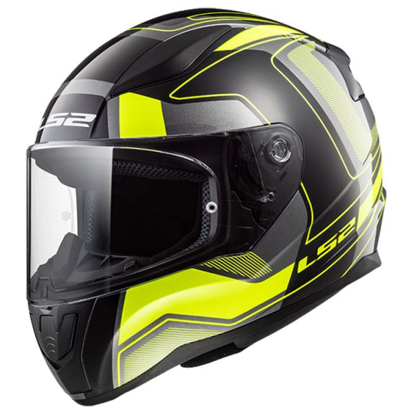 Casti Integrale LS2 Casca FF353 Rapid Carrera Black/Yellow 2019
