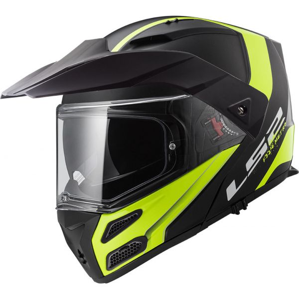 Casti ATV LS2 Casca Flip-Up FF324 Metro Evo Rapid Matt Black/Yellow 2019