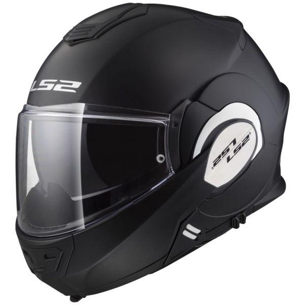 Casti Moto Flip-up (Modulabile) LS2 Casca Moto Flip-Up FF399 Valiant Matt Black 2021