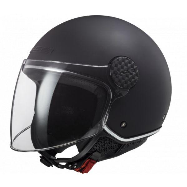 Casti Moto Jet (Open Face) LS2 Casca Moto Jet OF558 Sphere Lux Matt Black 2021