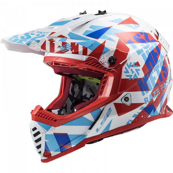 Casti MX-Enduro Copii LS2 Casca Moto MX Copii MX437 Fast Evo Mini Funcky Red 2021