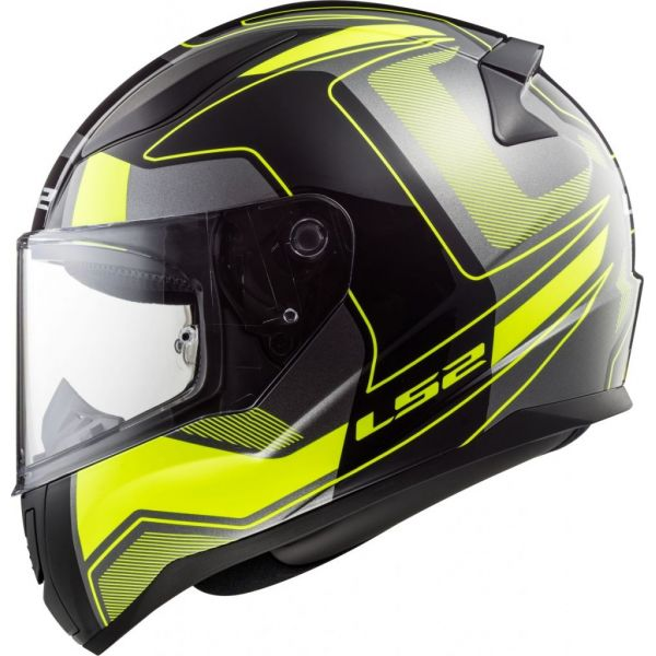 Casti Moto Integrale LS2 LICHIDARE STOC Casca FF353 Rapid Carrera Black Matt H-VZ Yellow