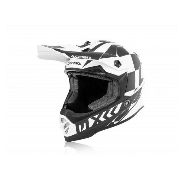 Casti MX-Enduro Copii Acerbis Casca Moto Copii Impact Steel White/Black 2020