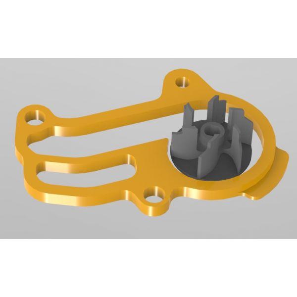 Ventilatoare Moto Mino MX Kit Pompa Apa Marita Negru KTM/HUSQVARNA 250/300 '20 - 21