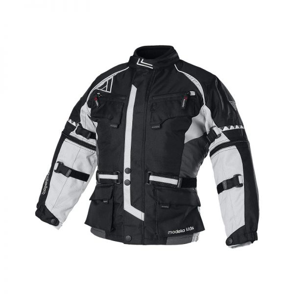 Geci Textil - Copii Modeka Geaca Textila Impermeabila Tourex Black/Gray Copii