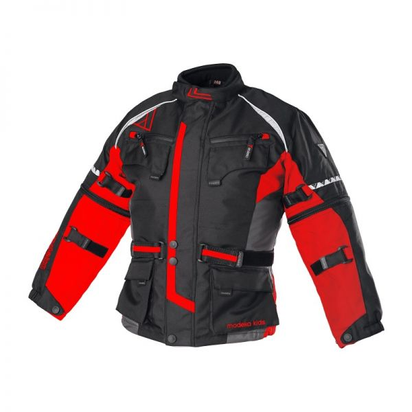 Modeka Geaca Textila Impermeabila Tourex Black/Red Copii
