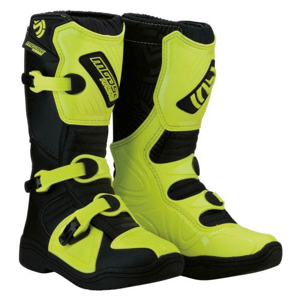 Cizme MX-Enduro Copii Moose Racing Cizme M.1 3 S8 Black/Yellow Copii