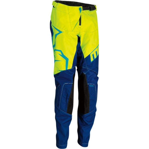Pantaloni MX-Enduro Copii Moose Racing Pantaloni Copii Qualifier Bleumarin/Galben/Teal 2021