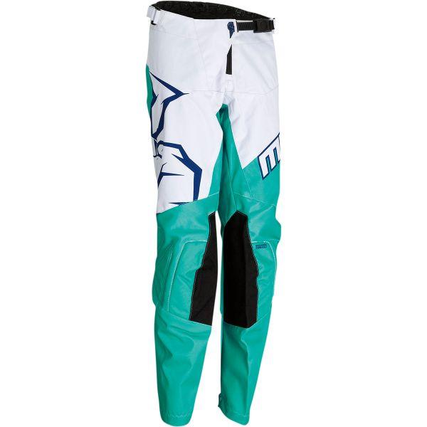 Pantaloni MX-Enduro Copii Moose Racing Pantaloni Copii Qualifier Mint/Alb/Bleumarin 2021