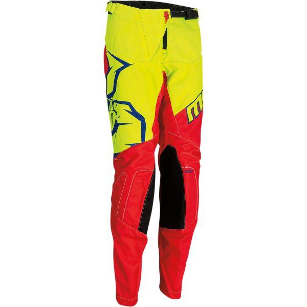 Pantaloni MX-Enduro Copii Moose Racing Pantaloni Copii Qualifier Rosu/Galben/Albastru 2021