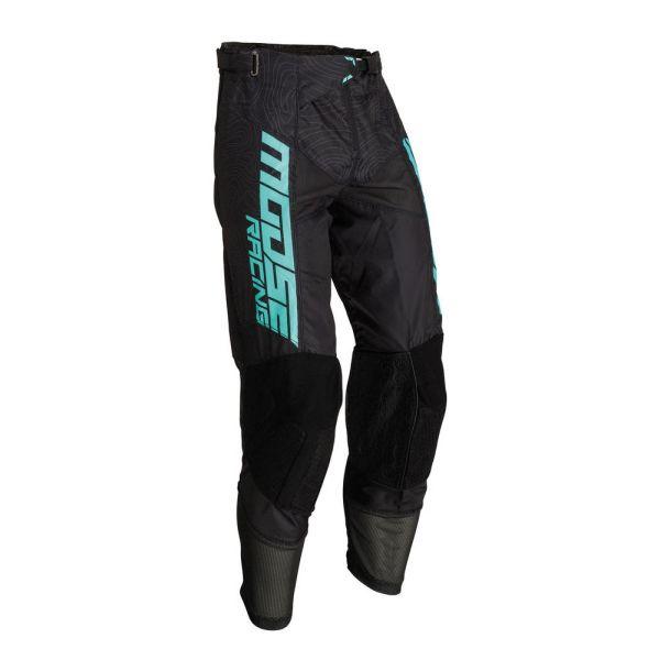Pantaloni MX-Enduro Moose Racing Pantaloni M1 Agroid Black/Mint 2019