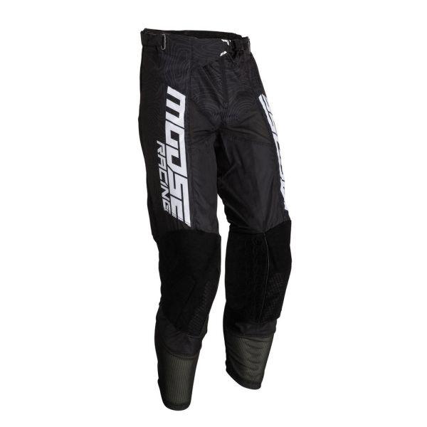 Pantaloni MX-Enduro Moose Racing Pantaloni M1 Agroid Black/White 2019