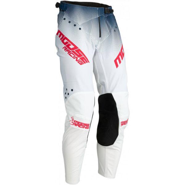 Pantaloni MX-Enduro Moose Racing Pantaloni MX Agroid Navy/Alb 2021