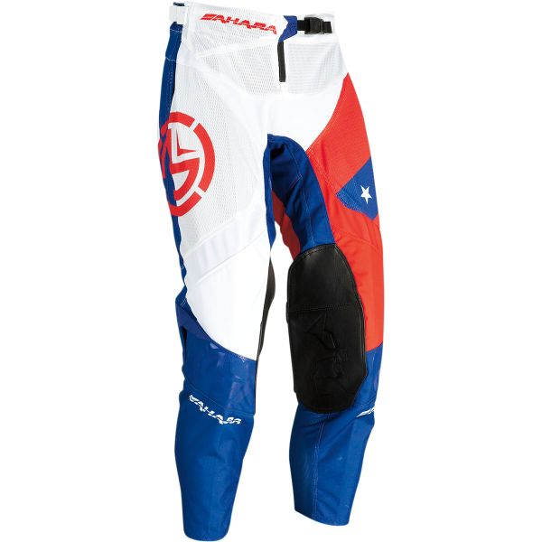 Pantaloni MX-Enduro Moose Racing Pantaloni MX Sahara Rosu/Alb/Albastru 2021