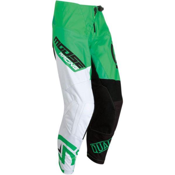 Pantaloni MX-Enduro Moose Racing Pantaloni Qualifier Green/White S9