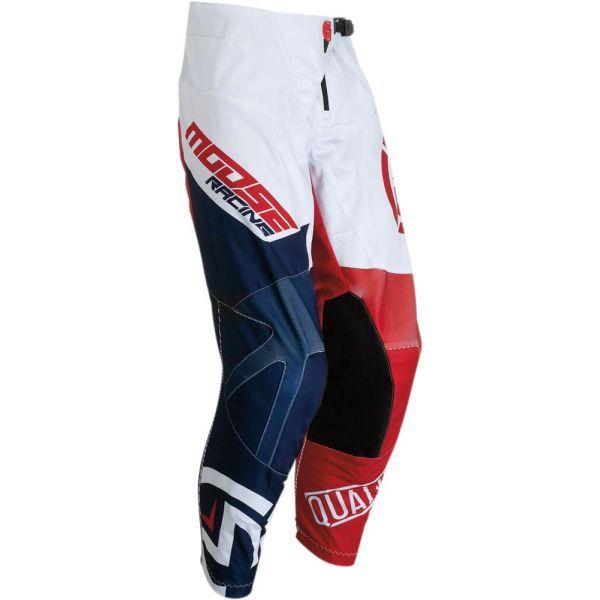 Pantaloni MX-Enduro Copii Moose Racing Pantaloni Qualifier Red/White/Blue S9 Copii