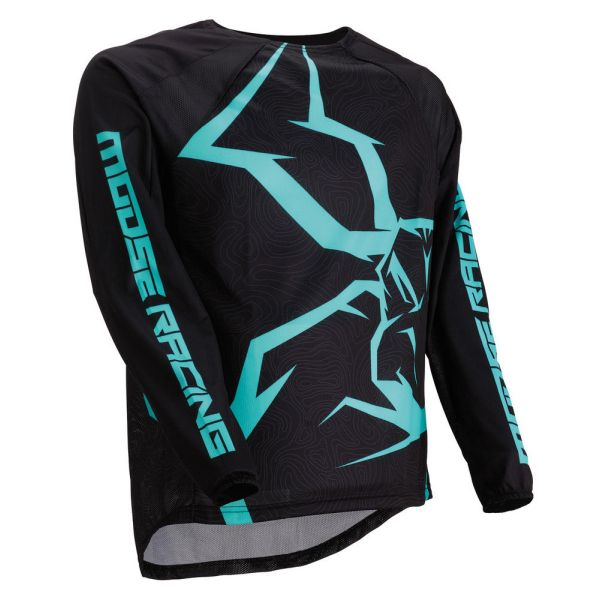 Tricouri MX-Enduro Moose Racing Tricou M1 Agroid Black/Mint 2019