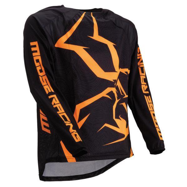 Tricouri MX-Enduro Moose Racing Tricou M1 Agroid Black/Orange 2019
