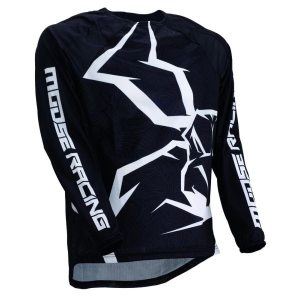 Tricouri MX-Enduro Moose Racing Tricou M1 Agroid Black/White 2019
