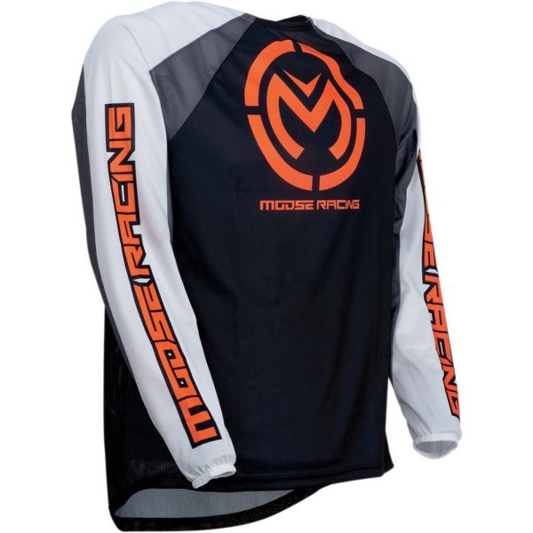 Tricouri MX-Enduro Moose Racing Tricou M1 Black/Orange S9