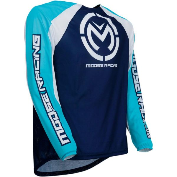 Tricouri MX-Enduro Moose Racing Tricou M1 Blue/White S9