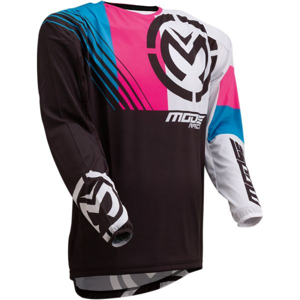 Tricouri MX-Enduro Moose Racing Tricou M1 S20 Black/Pink