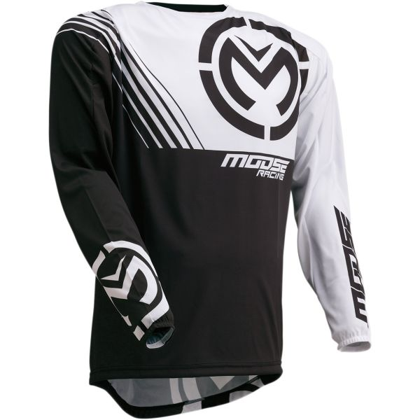 Tricouri MX-Enduro Moose Racing Tricou M1 S20 Black/White