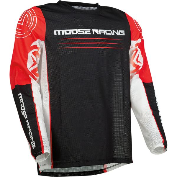 Tricouri MX-Enduro Moose Racing Tricou Moto MX Sahara Red/Black 2022