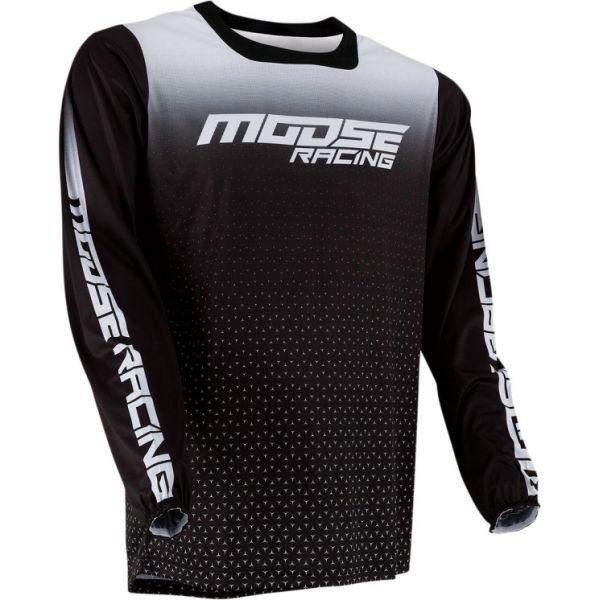 Tricouri MX-Enduro Moose Racing Tricou MX M1 Negru/Alb 2021