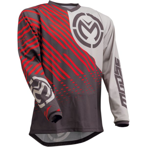 Tricouri MX-Enduro Moose Racing Tricou Qualifier S20 Gray/Red