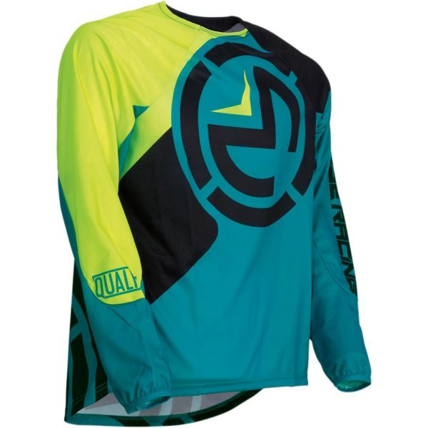 Tricouri MX-Enduro Copii Moose Racing Tricou Qualifier Teal/Yellow S9 Copii