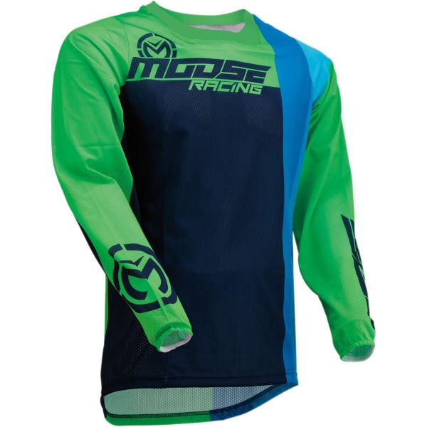 Tricouri MX-Enduro Moose Racing Tricou Sahara S20 Navy/Green