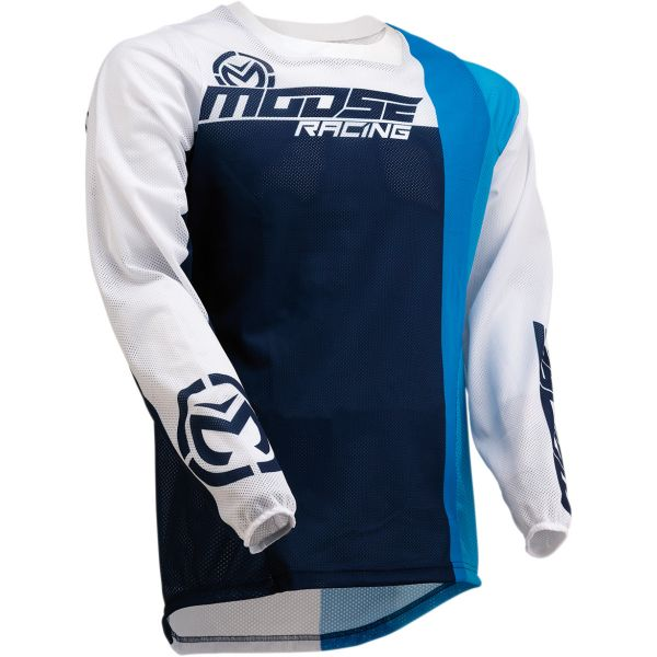 Tricouri MX-Enduro Moose Racing Tricou Sahara S20 Navy/White