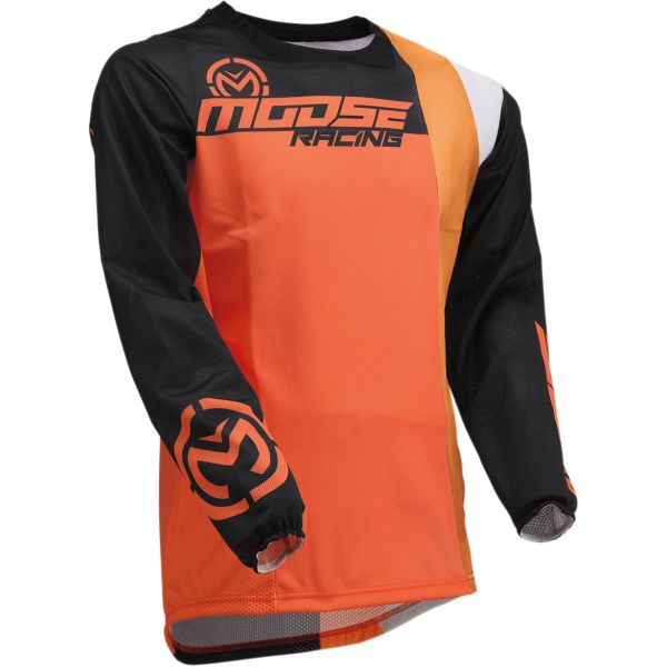 Tricouri MX-Enduro Moose Racing Tricou Sahara S20 Orange/Black