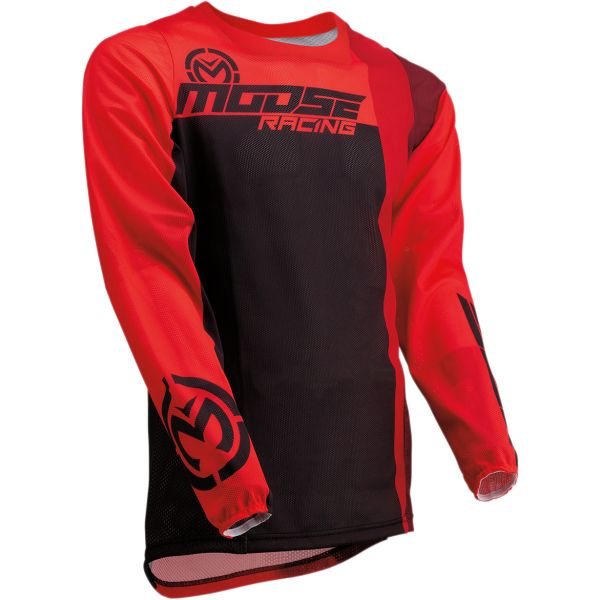 Tricouri MX-Enduro Moose Racing Tricou Sahara S20 Red/Black