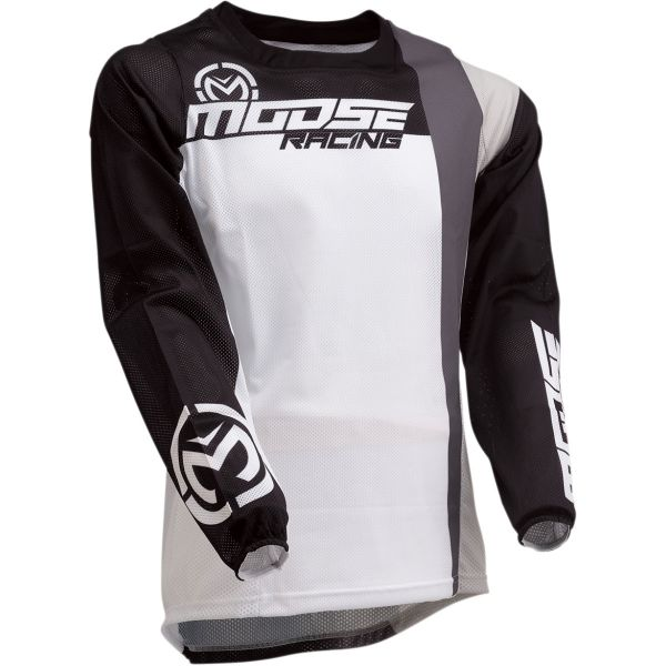 Tricouri MX-Enduro Moose Racing Tricou Sahara S20 White/Black