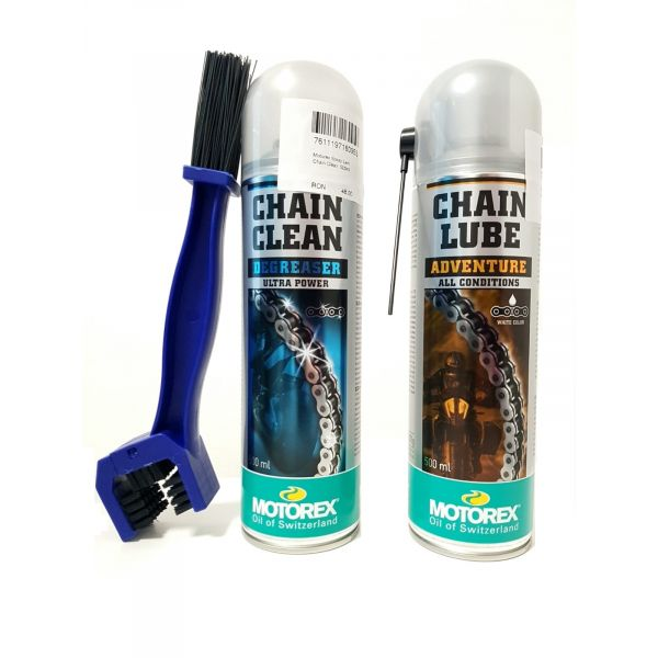 Spray de lant Moto24 Kit Curatare+Ungere Lant Motorex Adventure