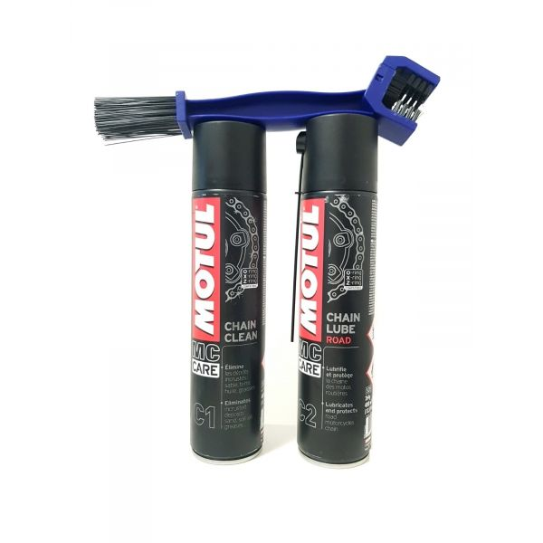 Spray de lant Moto24 Kit Curatare + Ungere Lant Motul Road