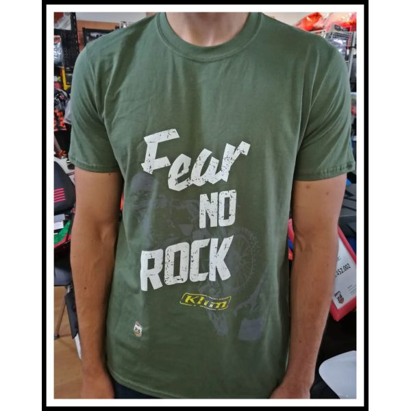 Tricouri Casual Moto24 Tricou Fear No Rock Military Green 2019