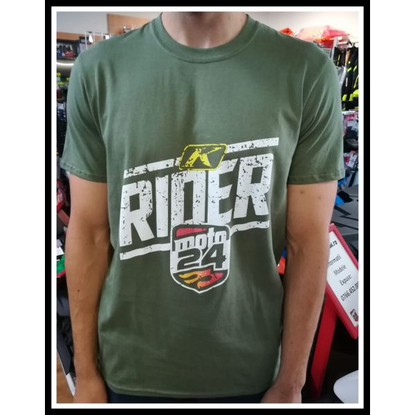 Tricouri Casual Moto24 Tricou Rider Military Green 2019