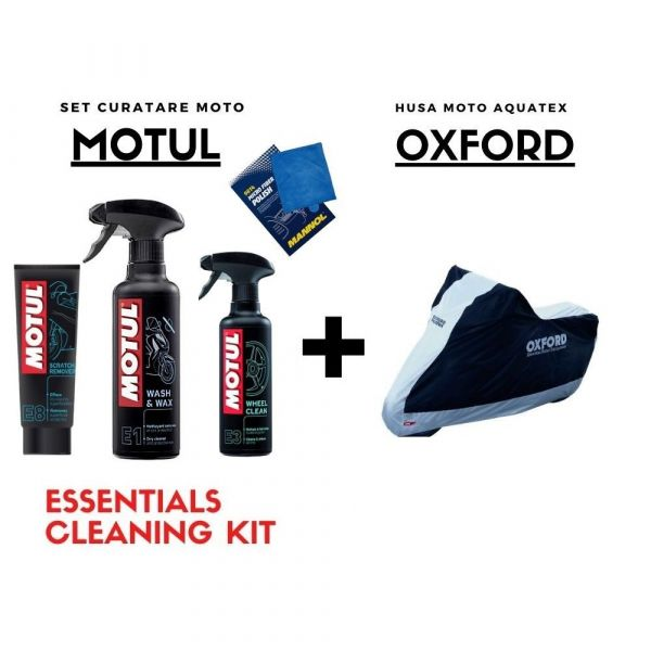 Motorcycle Covers Moto24 Combo Seat Cover + Bike Cleaning Motul Kit