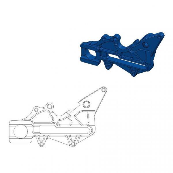 Kit Upgrade Frana Motomaster Adaptor Relocare Etrier Frana 220mm Albastru - 211062