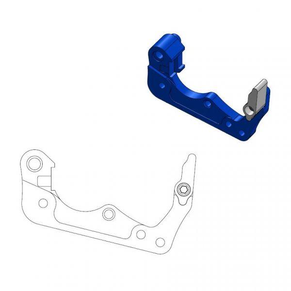Kit Upgrade Frana Motomaster Adaptor Relocare Etrier Frana 260mm Albastru - 211061
