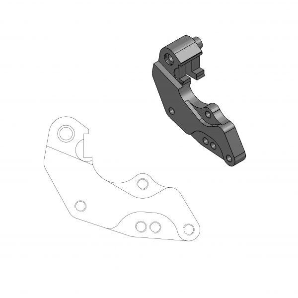 Kit Upgrade Frana Motomaster Adaptor Relocare Etrier Frana Dakar 298mm - 211056