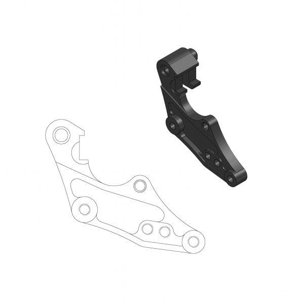 Kit Upgrade Frana Motomaster Adaptor Relocare Etrier Frana Rally/Dakar 298mm - 211060