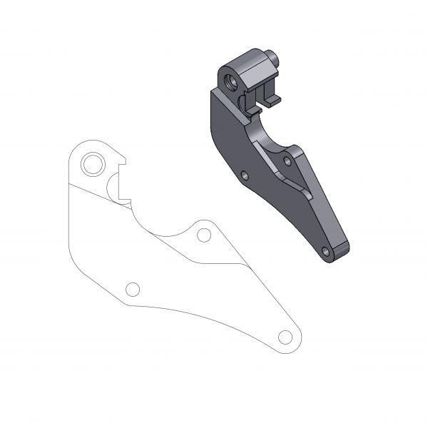 Kit Upgrade Frana Motomaster Adaptor Relocare Etrier Frana Supermoto Street 320mm - 211010