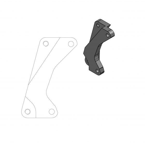 Kit Upgrade Frana Motomaster Adaptor Relocare Etrier Frana Supermoto Street 320mm - 211011
