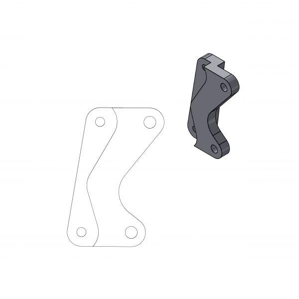 Kit Upgrade Frana Motomaster Adaptor Relocare Etrier Frana Supermoto Street 320mm - 211038