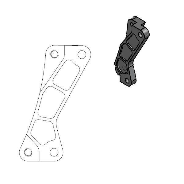 Kit Upgrade Frana Motomaster Adaptor Relocare Etrier Frana Supermoto Street 320mm - 211076