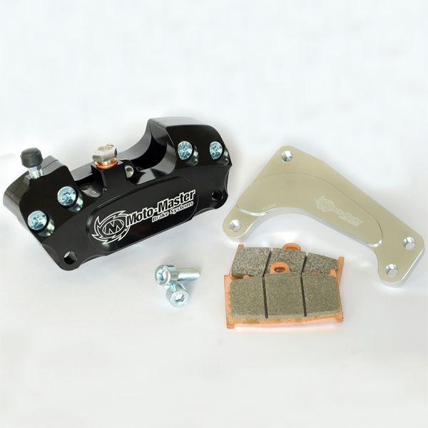 Kit Upgrade Frana Motomaster Kit Etrier Frana 4 pistoane + Adaptor Supermoto Racing Negru - 210015